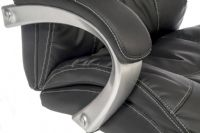TEKNIK SIESTA Luxury Leather Look Chair with Matching Fixed Arms
